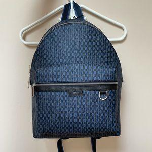 BOSS by HUGO BOSS Blue Monogram Print Backpack